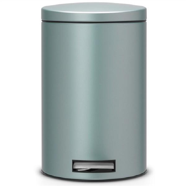 Pedaalemmer Brabantia 12 Liter.Brabantia Pedaalemmer 12 L Mc Metal Mint