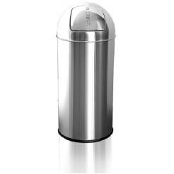 afvalbak rvs met duwdeksel 30l