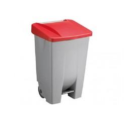 Sunware Basic vuilnisbak 80 ltr.rood dek