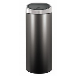 Brab. Touch Bin 30L m/ steel Platinum