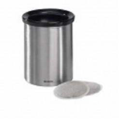 Brab afvalbak coffeepads matt steel
