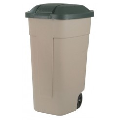 Curver afvalbak+wielen 110L rolcontainer