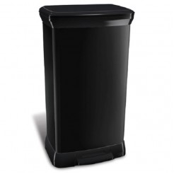 Curver Decobin 50L rechthoekig zwart